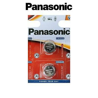 2x Panasonic CR2032 3V Lithium Battery Coin Cell Batteries DL/BR 2032 Key Alarms
