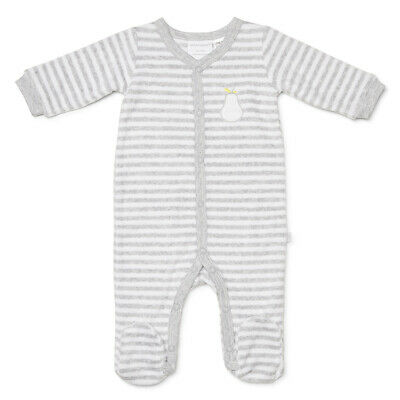 NEW Marquise Terry Studsuit Pear Grey Stripe Size 000