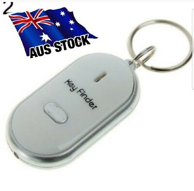 2 x LED Anti Lost Key Finder Locator Whistle Sound Control Torch