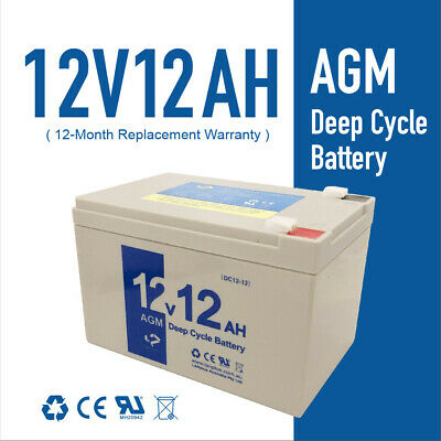 Brand NEW 12V12AH Sealed Lead-Acid AGM Battery for UPS Solar Power Scooter eBike