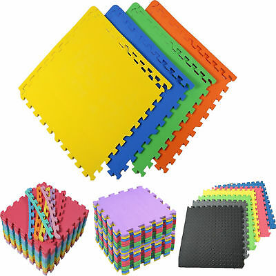 Large Multicolored Eva Soft Foam Rubber Mat Kids Puzzle Floor Exercise Tiles New