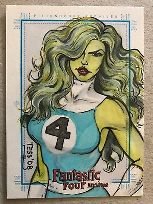 Fantastic Four Archives: Sketch Card: She-Hulk By Tess Fowler