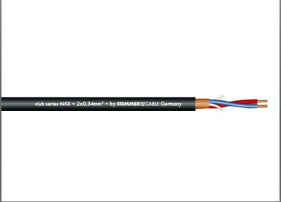Sommer Cable Mikrofonkabel 2x0,22mm²;  Ø6,4mm SC Club Series MKII