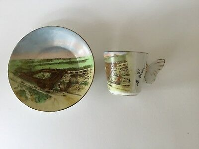 1851 Crystal Palace Great Exhibition Commemorative Cup & Saucer Butterfly Handle