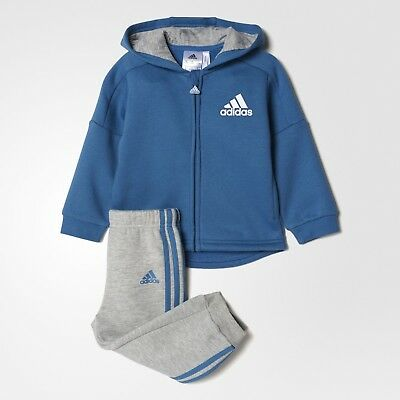adidas infant boys blue/grey tracksuit. Jogging suit. Ages 0-4 years.
