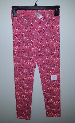 NEW Old Navy Girls SIZE 14 Leggings CORAL PINK FLORAL Pants NWT  #94218