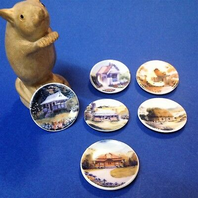 Mills & Boon Harlequin Miniatures - Set x 6 Australian Homes - Plate Collection