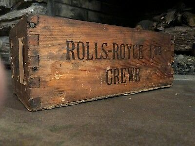 Antique Wwii Era Tool Stores Large Box From The Rolls-Royce Factory