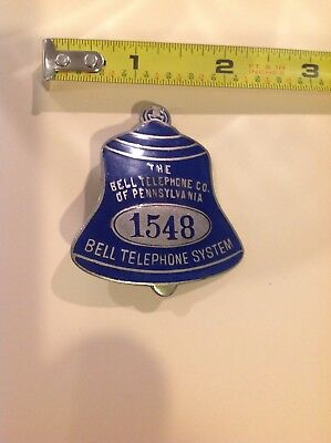 Telephone Badge Bell Telephone Of Pennsylvania Bell System