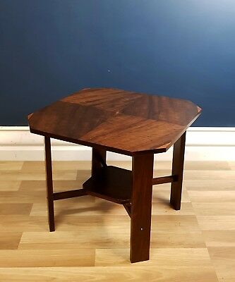 Art Deco Coffee / Side Table, Restored 1935 Figured Walnut