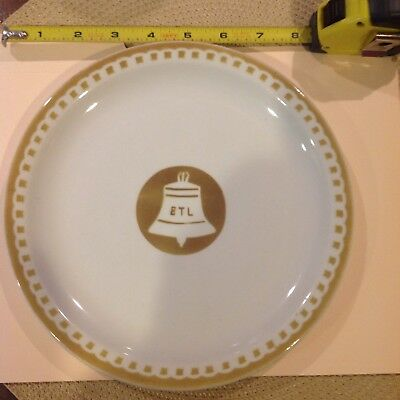 "Bell Telephone Laboratories Dining Room Plate 9"" Good Shape"
