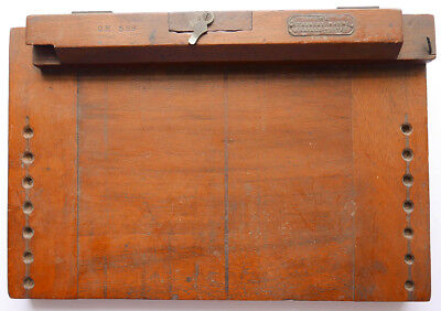 Antique Victorian 1899 Board for Stainsby Wayne Braille Write rare printing tool
