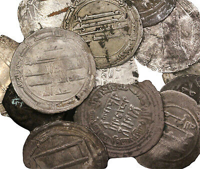 ISLAMIC: Lot of 13 Islamic coins, mostly silver