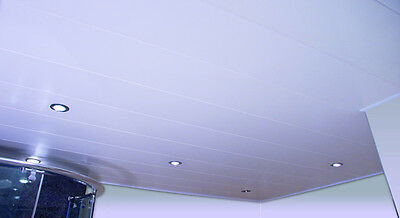 PVC Ceiling planks in white (4m x 250mm) - CAN DELIVER