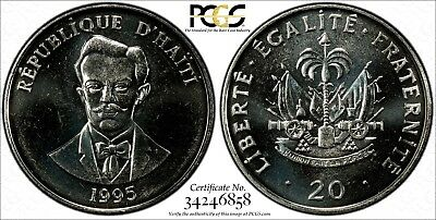 Haiti SPECIMEN 1995 20 Centimes PCGS SP66 FLASHY PROOF LIKE TOP GRADED KM# 152a
