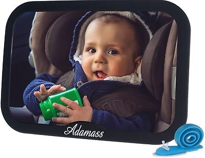 Baby Car Mirror By Adamass, Door Stopper Included - Keep An Eye On Your Baby's