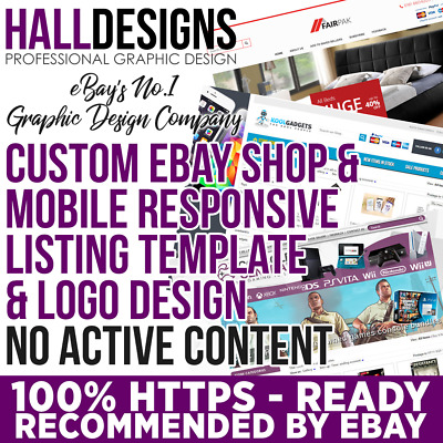 100% Bespoke eBay Shop, Logo & Matching Custom Listing Template Design