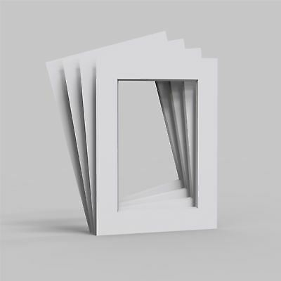 4, 8, 12 and 24 Pack Mounts for Pictures/Photo frames- White Core board