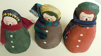 """Set of Three 4.5"""" Singing Women Figures in the Cold"""