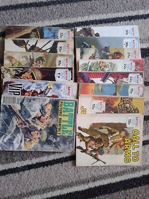 Battle picture library comics.14 in total
