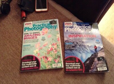 2 Practical Photography Magazines March & April 18