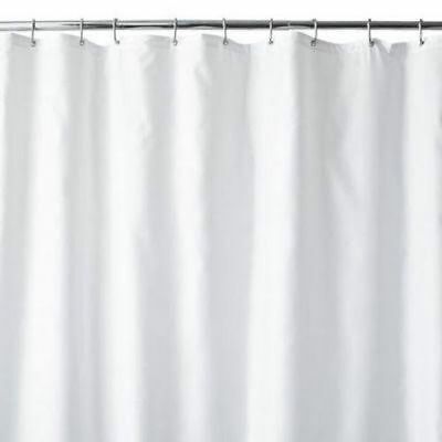 New Wamsutta Luxury Fabric Extra Long Shower Curtain Liner 70x 84 White