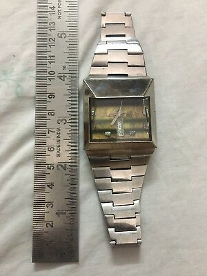 Rare Vintage Omax Spaceman Automatic Working Men Watch With Original Band