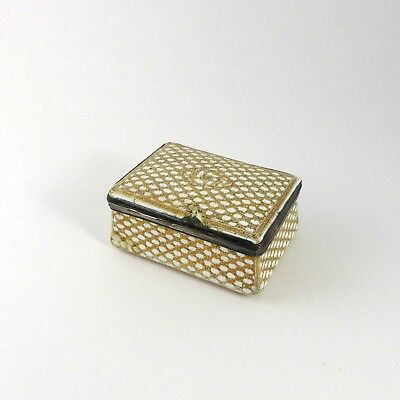 TABATIERE - EMAIL SUR CUIVRE XVIIIe SIECLE - ENAMELED COPPER SNUFF BOX 18th C.