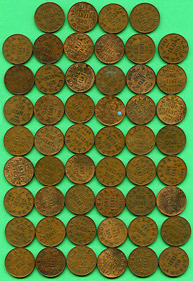 52 Piece Lot Mix Date Canadian George V Small Cent One Cent Canada Coin