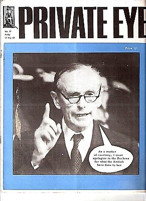 Private Eye Mag # 37 17 May 1963  Duchess of Argyll  Headless Man Duncan Sandys