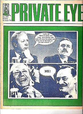 "Private Eye Mag # 222  19 June 1970 Enoch Powell  Immigration ""Rivers of Blood"""