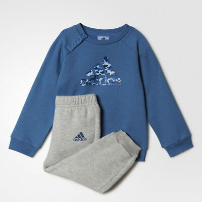 adidas boys blue/grey infant/baby tracksuit. Jogging suit. Various sizes!