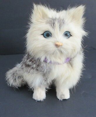 "VINTAGE 1960's CANADIAN INUIT MADE 5"" CAT    REAL FUR     VERY NICELY MADE!"