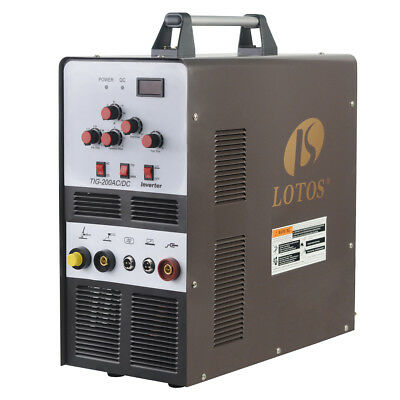 TIG/Stick Square Wave Inverter AC/DC Aluminum 200A Lotos TIG200 Welder Brand New