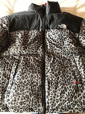 28a8a4660cc4 ... france supreme leopard print north face nuptse puffy jacket 646d0 f81e7