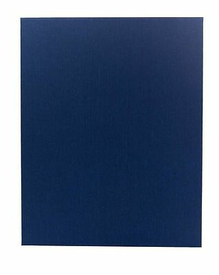 "(10pk) Poly-Cotton Wrapped Menu Cards, Blue, 1-panel, 8.5"" x 11"" insert"