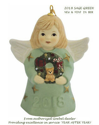 2018 GOEBEL ANNUAL ANGEL BELL 43rd Edition -SAGE GREEN -FREE 1st CLASS USPS- NEW