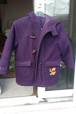 childs Disney store duffle coat