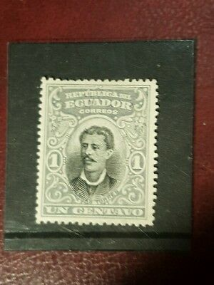 stamp - ecuador 1899 early issie fint mint hinged - 1c -  Lot 761