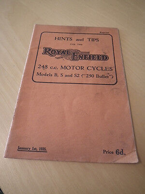 ROYAL ENFIELD  HINTS AND TIPS, ROYAL ENFIELD 248 cc MODELS.
