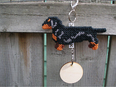 Dachshund Smooth #2 dog crate tag or hang anywhere handmade pet sign ornament