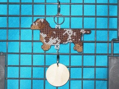 Dachshund Smooth #6 dog crate tag or hang anywhere pet sign ornament, dappled