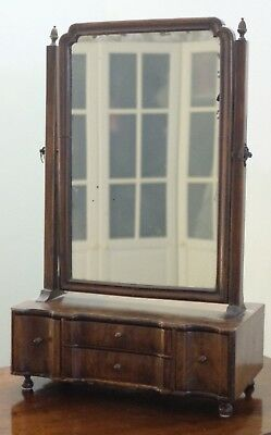 Antique Mahogany Table Toilet Dressing Table Adjustable Mirror with draws