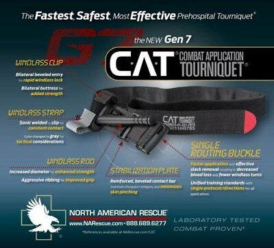 2 Pack Genuine NAR CAT Tourniquet Gen 7 Black
