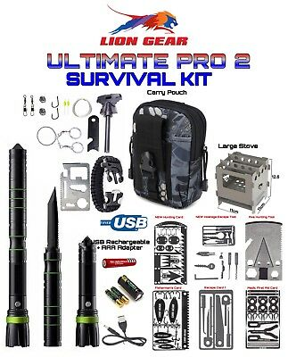 #Ultimate Pro Survival Tool Kit Gear GT6 LED 8000 LM Flashlight S30V Knife ++++