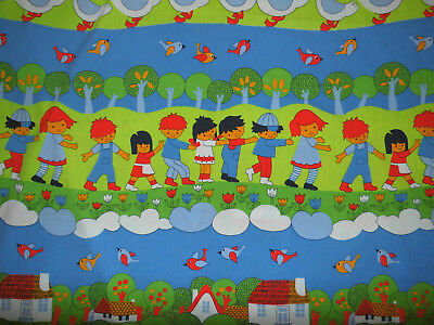 Kinder Bettwäsche 100x135 40x60 vintage 70er fabric bedding 70s Graziela -like