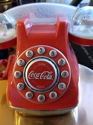 Coca Cola Dome Collectible*push Button Telephone*