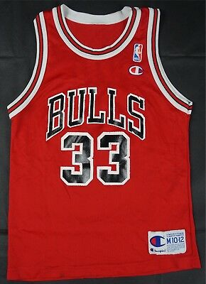bffe98fa4 Rare Vintage CHAMPION Scottie Pippen Chicago Bulls NBA Jersey 90s Youth M  10-12