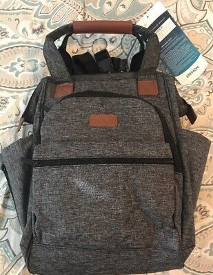 Brinch Diaper Bag Backpack Satchel w/ Changing Pad Insulated Pouch Lightweight
