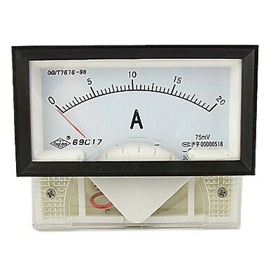 69C17 DC 0-20A Rectangle Panel Analogue Ammeter Current Meter